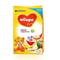 Каша молочна Milupa Манна з фруктами, 6+, 210г