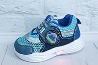 Легкие светящиеся кроссовки на мальчика тм Том.м, р. 21, фото 1