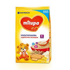 Каша молочна Milupa Мультизлакова з дитячим печивом, 7+, 210г