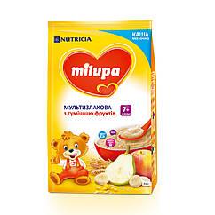 Каша молочна Milupa Мультизлакова з сумішшю фруктів, 7+, 210г