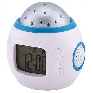 """Музыкальные часы с будильником и проектором """"Звездное небо"""" Music and Starry Sky Calendar"""