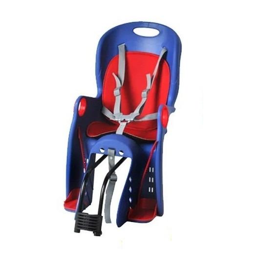 Дитяче велосіпедне крісло для дитини до 7-ми років з вагою до 22 кг TILLY Maxi T-831/1 Blue, синє