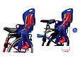 Детское велосипедное кресло для ребенка до 7-ми лет с весом до 22-х кг TILLY Maxi T-831/1 Blue, синее, фото 2