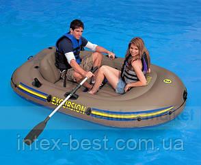 Надувная лодка Excursion 2 Set Intex 68318 (239х145х37 см. ), фото 2