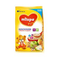 Каша молочна Milupa Мультизлакова з яблуком та грушею, 7+, 210г