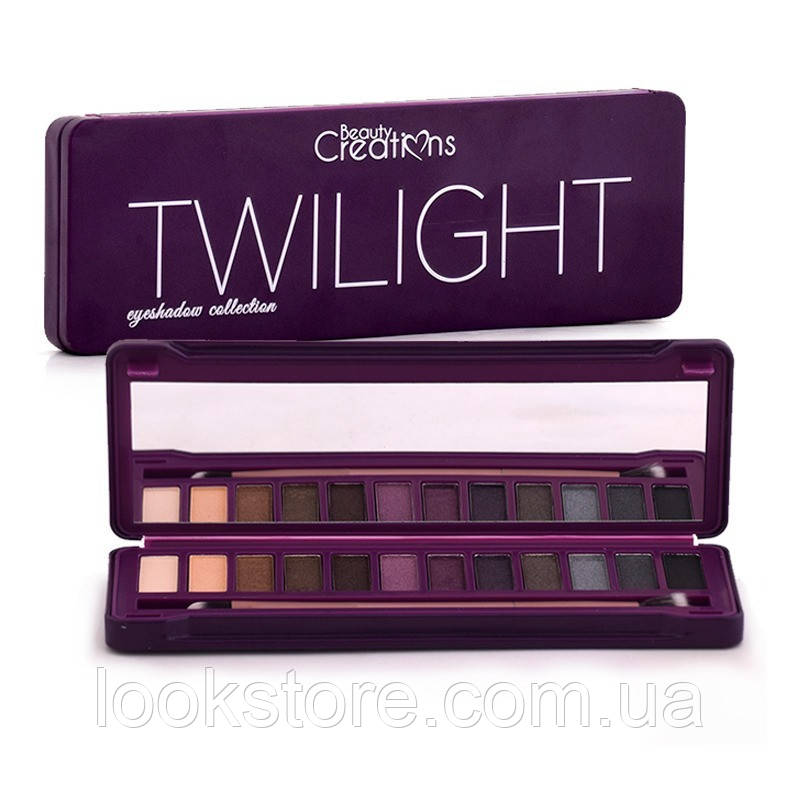 Палитра теней BEAUTY CREATIONS Twilight Eyeshadow Collection 12 в 1