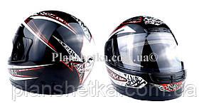 Шлем для мотоцикла Hel-Met WLT 106 черный с красным