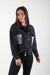Джинсовая куртка оверсайз в чёрном цвете