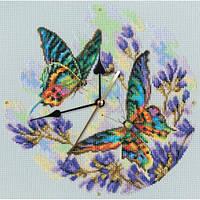 Набор для вышивки крестиком Радужные бабочки  26 х 26 см RTO