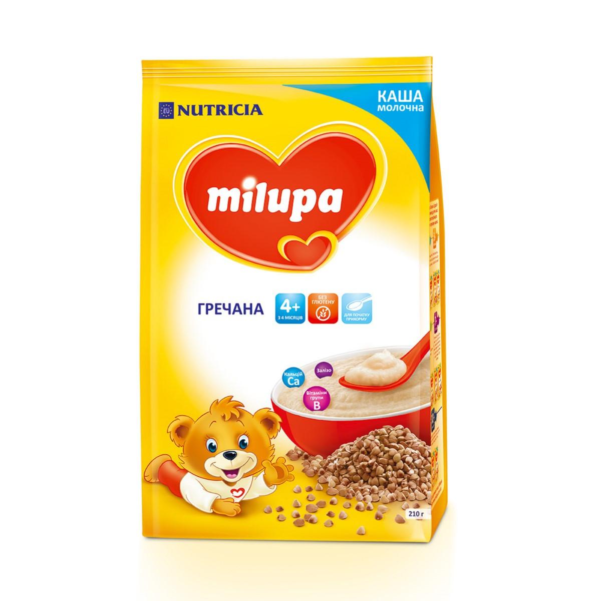 Каша молочна Milupa Гречана, 4+, 210г