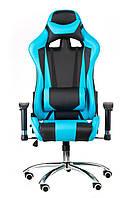 Крісло геймерське Special4You extreme Race, чорний\ блакитний