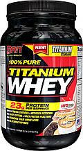 Протеин 100% Pure Titanium Whey  SAN 900 г (вкус крем-печенье)