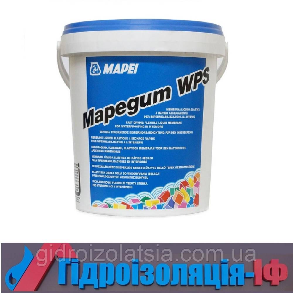 Рідка еластична мембрана швидкого висихання для гідроізоляції всередині приміщень Mapegum WPS