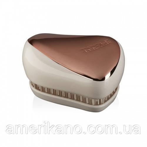 Расческа для волос Tangle Teezer Compact Styler компактная с крышкой Rose Gold/Ivory Цвет:розовое золото/белый
