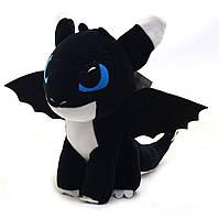 Мягкая игрушка KinderToys «Как приручить дракона?». Любимая игрушка Дракоша 3 Ночное сияние Шерис (00688-5)