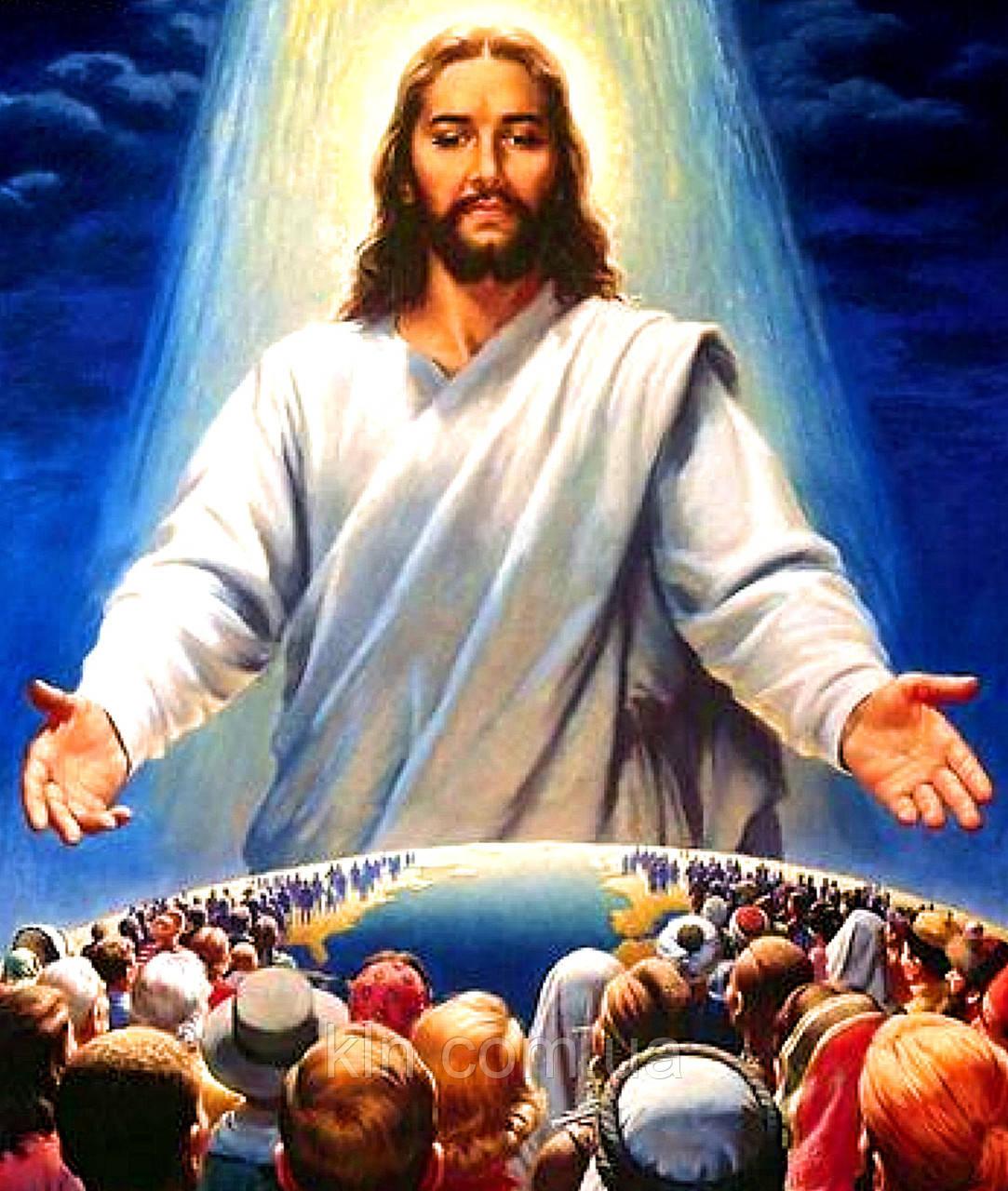 Алмазна мозаїка на підрамнику Бог з нами завжди 40 х 50 см (арт. TN905)