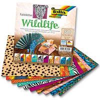 Бумага для оригами ассорти Wildlife, 15х15см, 50л, фото 1