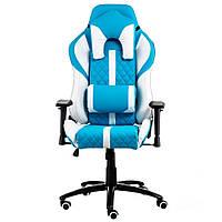 Крісло геймерське Special4You extreme Race, білий\ блакитний