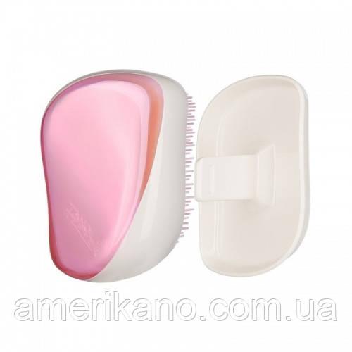 Расческа для волос Tangle Teezer Compact Styler компактная с крышкой Lilac Gleam лиловый хром