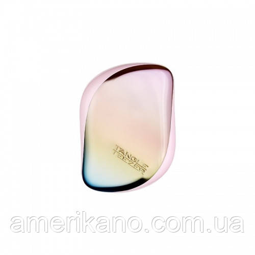 Гребінець для волосся Tangle Teezer Compact Styler компактна з кришкою Pearlescent Matte, райдужний/рожевий