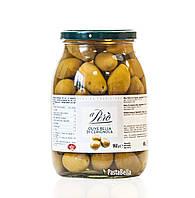 """Гигантские Итальянские Зеленые Оливки - """"Olive Bella di Сerignola"""" 960g """"aPerò"""" 1062мл"""