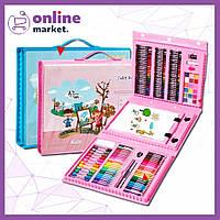 Набор для детского творчества в чемодане из 208 предметов / Чемоданчик юного художника