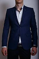 Пиджак льняной Daniel 000530 синий 54 размер