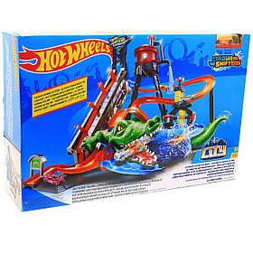 Игровой трек «Hot wheels» Хот вилс - Измени цвет Водонапорная башня Сумасшедшая автомойка (FTB67)