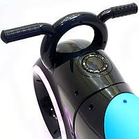 Каталка-толокар Corso Трон-байк Black / Blue со световыми и звуковыми эффектами (Т 1522), фото 5