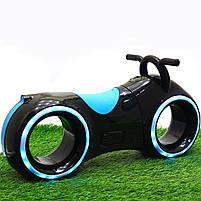 Каталка-толокар Corso Трон-байк Black / Blue со световыми и звуковыми эффектами (Т 1522), фото 7