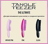 Расческа для волос Tangle Teezer Compact Styler компактная с крышкой Petrol Blue Ombre, голубой хром, фото 7