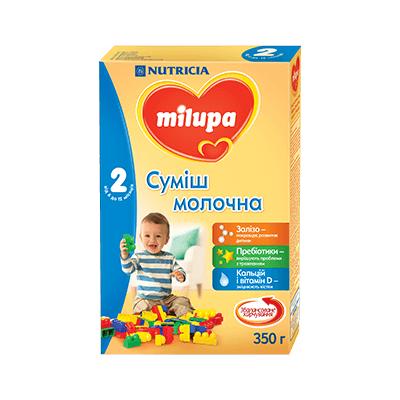 Молочна суміш Milupa 2, 6+, 350г