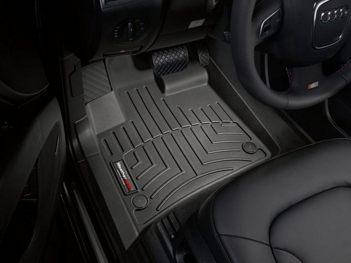 Ковры резиновые WeatherTech Audi Q7 2006-2014 передние черные