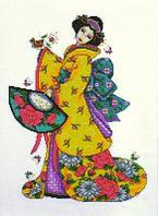 Набор для вышивания  Design Works 2710 Golden Geisha