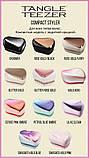 Гребінець для волосся Tangle Teezer Compact Styler компактна з кришкою Sunset Pink, білий/рожевий хром, фото 10