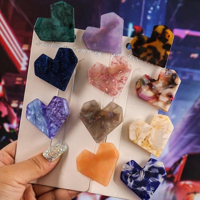 """Заколка для волос """"Marble Heart"""", разные цвета"""