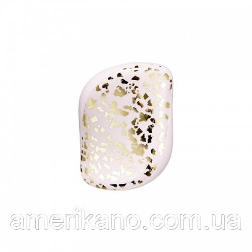 Расческа для волос Tangle Teezer Compact Styler компактная с крышкой Gold Leaf
