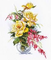 Набор для вышивки крестом Алиса 2-20 Желтые розы