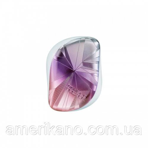 Гребінець для волосся Tangle Teezer Compact Styler компактна з кришкою Smashed Holo Blue