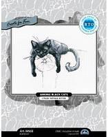 """""""Среди черных котов"""" RTO. Набор для вышивки крестиком (M666)"""