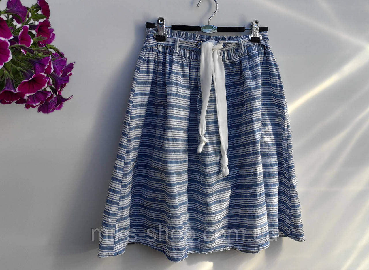 Летняя юбка без подкладки Италия размер 38