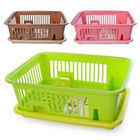 Сушка для посуды настольная пластик 43*31*16см