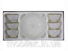 Набір салатників (7шт1*1,3л та 6*200мл) White (склокераміка) ТМLUMINES