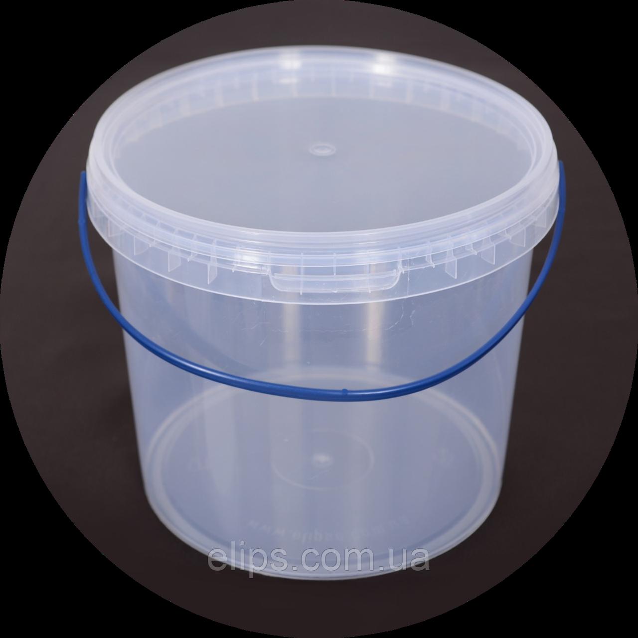 Ведро пластиковое, пищевое 5 л (упаковка 20 шт). Бесплатная доставка!