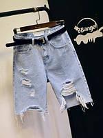 Джинсовые женские шорты, фото 1