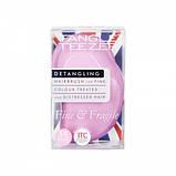 Гребінець для волосся Tangle Teezer The Original Fine & Fragile Pink Dawn лілова, фото 3