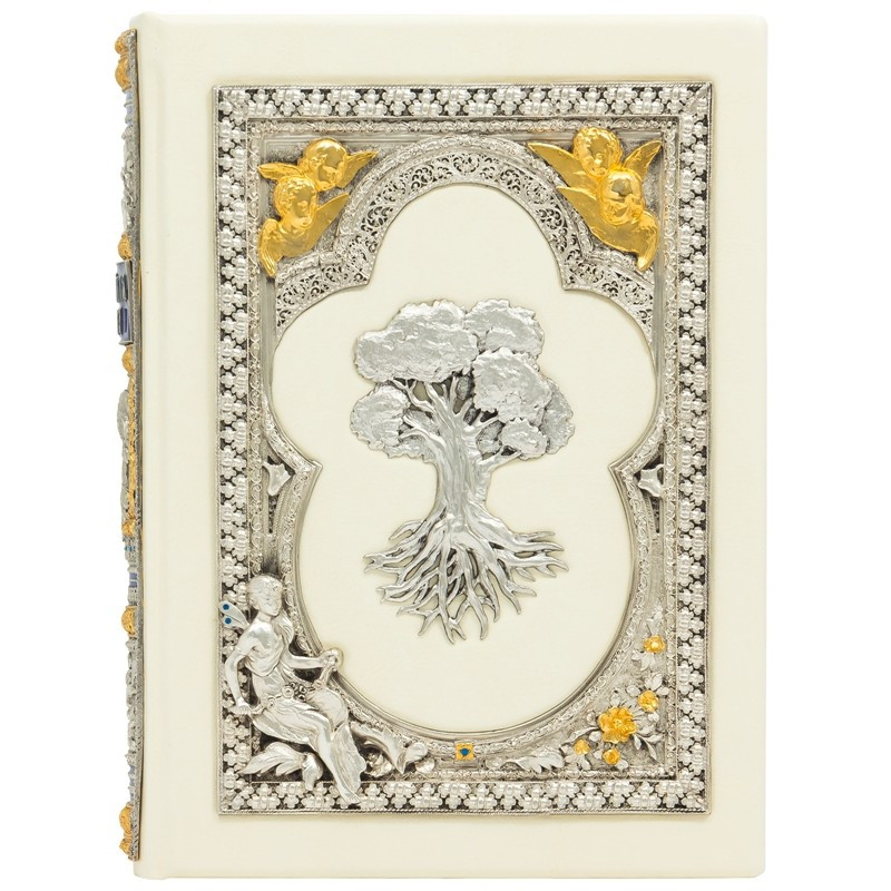 """Книга для записи родословной в кожаном переплете """"Семейная книга"""""""