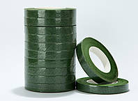 Стріча  флористична  10мм 90м ,темно зелений    -12шт