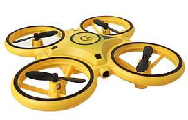 Квадрокоптер BR14 с управлением жестами, желтый