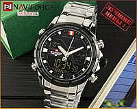 Оригинальные Мужские Наручные часы Naviforce NF9138S Silver-Black